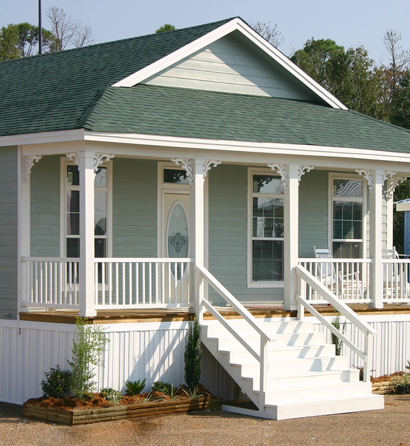 Hurricane katrina build with modular construction for Modular shotgun house